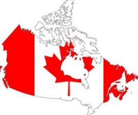 peta dan bendera kanada