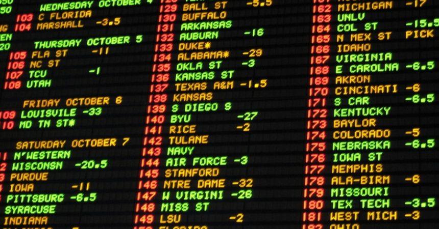 Las Vegas betting board
