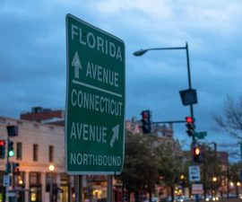 florida avenue connecticut avenue sign