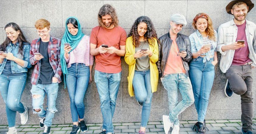 gen z group on phones